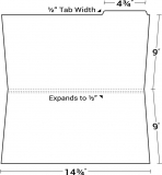 09-25-003 Legal Size File Folder with Top Right Tab