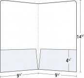 14-01 Legal Size Two Pocket Presentation Folder