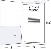 14-16 Legal Size Left Pocket Fold Down Tab Folder