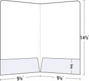 """14-17 Legal Size Two 3"""" Pocket Presentation Folder"""
