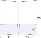 14-28 Legal Size Two Pocket Folder w/ Square Corners