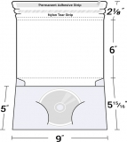 26-19 Single CD/DVD Wrap Around Disc Mailer Envelope w/ Pocket