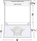 26-19 Single CD/DVD Wrap Around Disc Mailer Envelope w/ Pocket