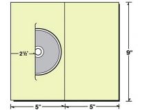 26-49 5x9 Reinforced CD/DVD Packaging Wallet Folder