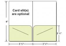 27-09 2 Pocket Key / Gift Card Holder