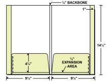 28-13 2 Expandable Pockets Legal Size Folder