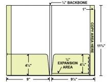 28-86 Reinforced Regular & Expandable Pocket File Tab Folder