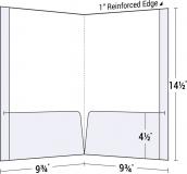 29-13 Legal Size Reinforced Two Pocket Folder