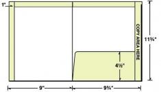 29-77-TOP Reinforced Top/Side File Tab Folder w/ Right Pocket