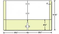29-78 Reinforced Continuous Pocket School Folder