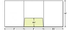 38-03 Tri-Panel Center Pocket Presentation Folder