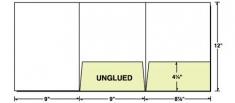 38-06 Tri-Panel Right & Center Pocket Presentation Folder