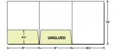 38-07 Tri-Panel Left & Center Pocket Presentation Folder
