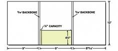 38-12 Tri-Panel Center Box Pocket Presentation Folder