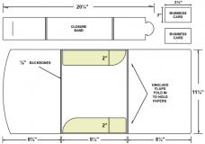 38-52 Belly Band Presentation Folder/Business Card Package