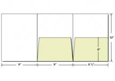 tri-fold presentation folders | custom printed | from 43¢, Presentation templates