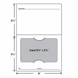 50-D-55-010 Economy Standard Gift Card Holder