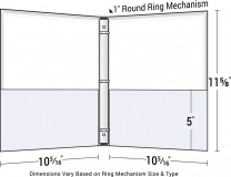 66-04-T Two-Pocket Three-Ring Turned Edge Binder