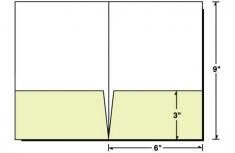 68-01 6x9 2 Pocket Small Presentation Folder