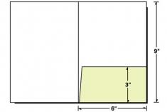 68-04 6x9 Right Pocket Small Presentation Folder