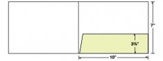 68-06 10x7 Right Pocket Landscape Presentation Folder