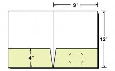 08-96-FOIL Foil Stamped Letter Size Two Pocket Folder