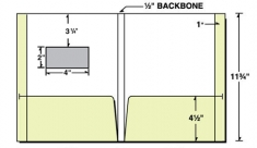 "29-72-WIN 1/2"" Backbone Two-Pocket Reinforced Folder with 4"" x 2"" Window"