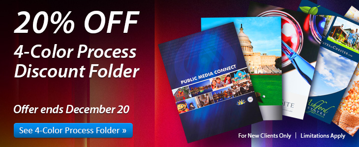 20% Off 4-Color Process Folders