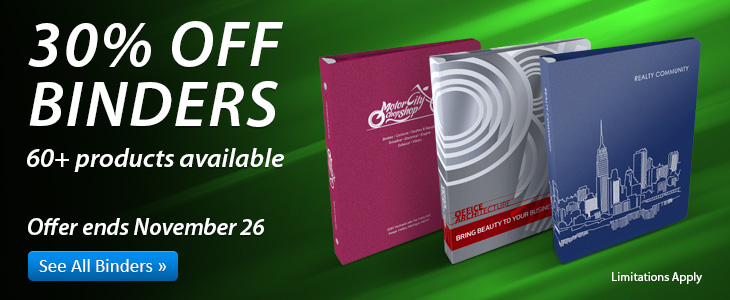 30% Off All Binders