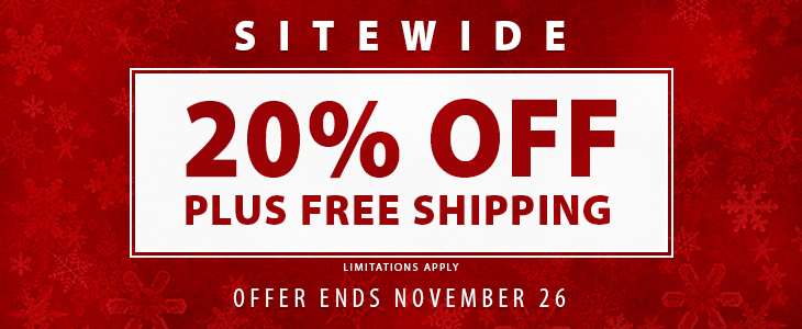 20% Off and Free Shipping Sitewide